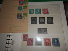 Federal Republic of Germany, 1949–1960 — Collection with extras in preprinted Lindner album — Michel 111–345