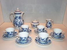 Blue Onion Pattern Coffee Service 15 Pieces
