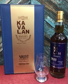 Kavalan Solist Vinho Barrique Single Cask Single Malt Whisky Cask Strength 56.3% Gift Set With Glass