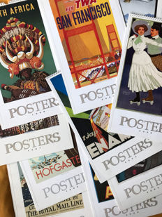 Collection of ten posters calendars