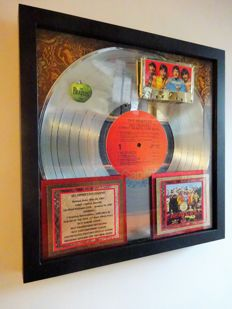 Beatles Sgt. Pepper's Lonely Hearts Club Band PLATINUM AWARD