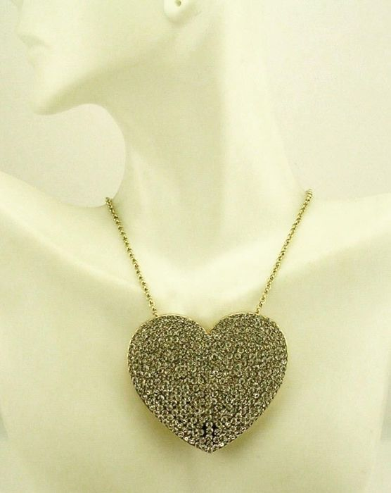 Joan rivers statement large heart pendant necklace catawiki joan rivers statement large heart pendant necklace mozeypictures Gallery