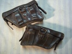 Rare Austrian K.u.K. block ammo pouch M-1888, these are dated 1915-1916