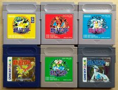 Game Boy / Color: lot of 6 Japanese Pokémon games, including Japan-exclusive Green Version