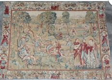 A machine-woven tapestry in 17th century style, 180 x 134 cm, 20th century