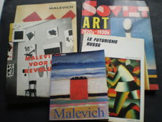Russian art; Lot with 5 books on Russian modern art - 1988 / 1989