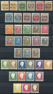Iceland 1902/1912 - Selection classics between Yvert 23 and Yvert 74