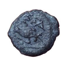 The Greek Antiquity - Gaul, Massalia, c. 2nd-1st Century BC - Æ Bronze Hemiobol (12,5mm; 1,04g.) - Head of Apollo / Bull - SNG Copenhagen 819-821 - scarce
