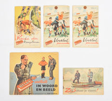 Picture card albums; Lot with 5 albums of Leo Pagano and Willem van Veenendaal - (1956)