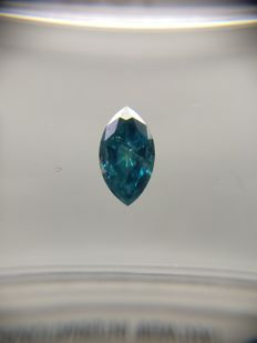 0.37 ct Marquise cut diamond Fancy Deep Blue I1