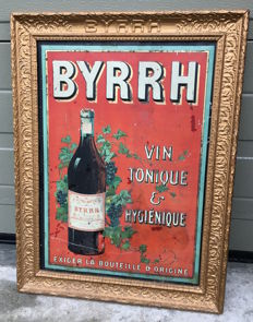 BYRRH advertising in original frame - ca 1930