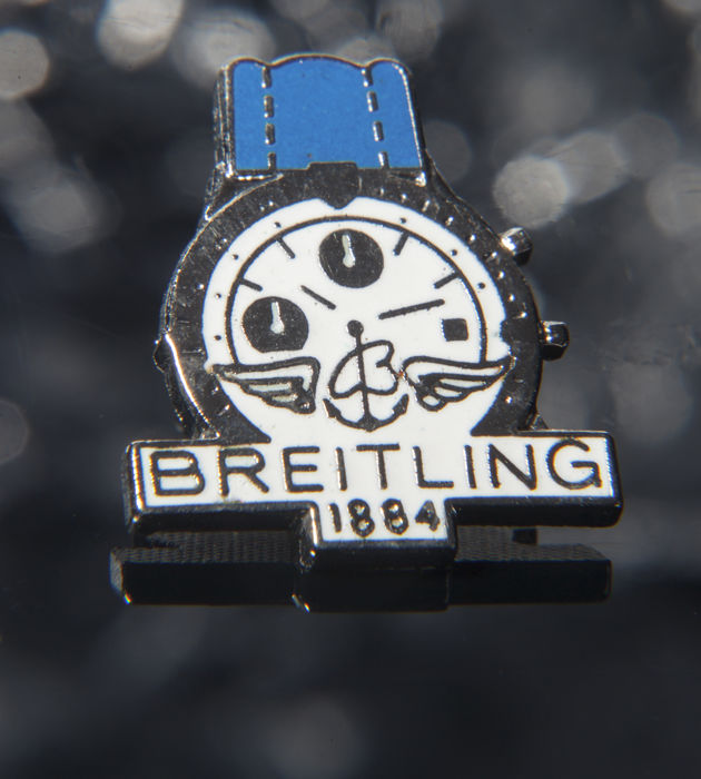 High Price & Exclusive Watch Concessionaire Brooch by Breitling - Complete collection Badges - Rare Watch Pin - Steel (stainless)