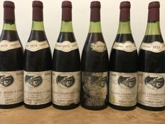 "1975 Volnay ""Champans""  1er cru  ""Tête de Cuvée""  Albert Added - Total 6 Bottles"