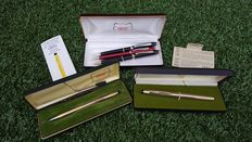 Collection of luxury Cross pens Century rolled gold & Townsend