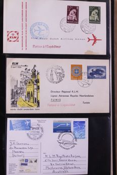 World 1952/1997 – Batch of FDCs, covers and miscellaneous in 9 albums