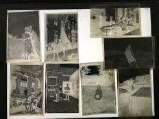 Negatives from the 1930s-40s with various subjects