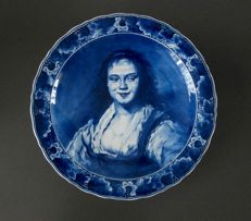 De Porceleyne Fles - large wall plate after Frans Hals