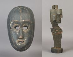 Lot of mask and Gana-Gana - Batak - Sumatra - Indonesia - late 20th century