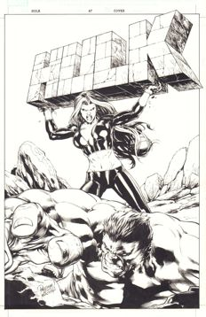 Original Cover Art By Carlo Pagulayan And Michael Jason Paz - Marvel Comics - Hulk Vol 2 #47 - Signed - (2012)