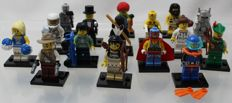 Mini figures series 1 - complete with all 16 figures and accessories