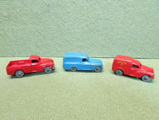 "Dublo Dinky Toys - Scale 1/76 - Commer Van No.063, ""Royal Mail"" Morris Van No.068 and Morris Pick-Up No.065"