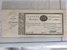 France - Caisse d'Echange of Caen, 400 sols or 20 Livres
