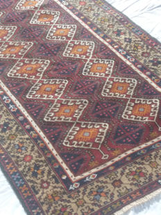 Beautiful Turkish Kazak in wool on wool, hand-knotted, 1940s/50s, dimensions: 250 x 125 cm