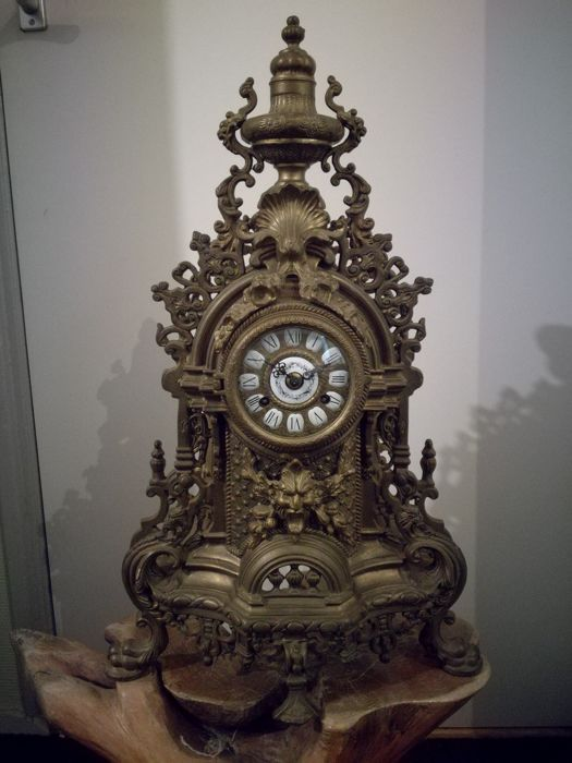 Mantle clock with an Italian look - FHS movement - 1986