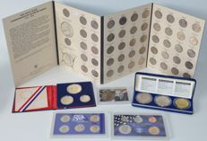 USA - Six coins - And year collections 1976-2008, including State Quarters