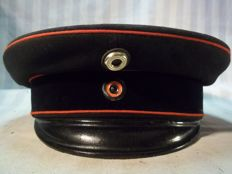 German officers cap of the military Feuerschutz Fire Department at the time of WW1