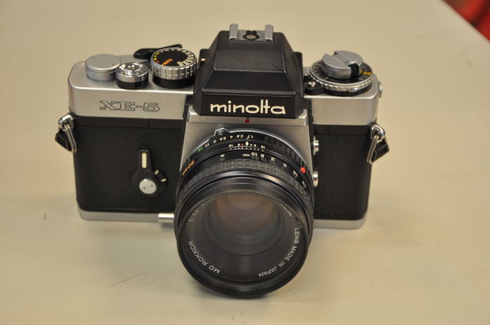 Minolta XE - 5 with lens 1.7/50mm