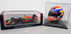 Spark - Scale 1/43 - Red Bull RB 12 - Max Verstappen - Winnaar GP Spanje en Helm SPA - 2016