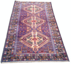 Amazing Afghan Hand Knotted Balouch Herati Area Rug 190 cm x 102 cm