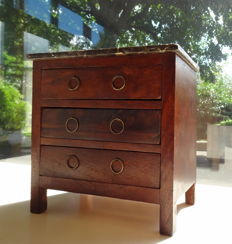 Miniature chest of drawers in mahogany - France - 19th century