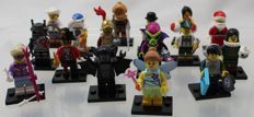 Mini figures series 8 - complete with all 16 figures and accessories
