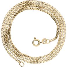 14 kt – Yellow gold Venetian link necklace – Length: