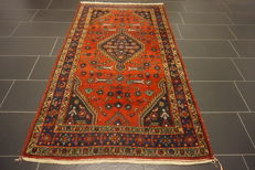 Old high-quality -Persian carpet- -Hamadan- -Made in Iran- -117X220 cm-