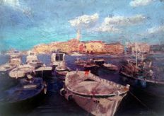 Zoran Zivotic (1962- ) - Rovinj harbour