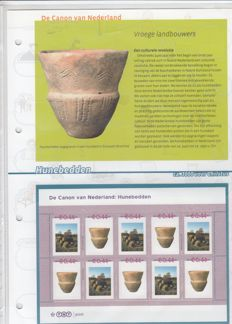 """The Netherlands 2007 - """"The Canon of the Netherlands"""", complete collection album personalised stamps"""