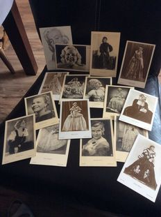 Greta Garbo and other Movie Stars 16 postcards + Harrison Fisher Philip Boileau and other artist signed postcards 38x
