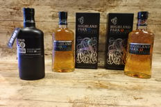 Highland Park Rebus & 10 & 12 - in original boxes - 3 bottles