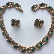 Suite of necklace and earrings by TRIFARI pat.pend.ca.1940 A. PHILIPPE