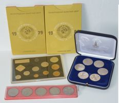 Russia – Lot with various coins and year collections (5 pieces)