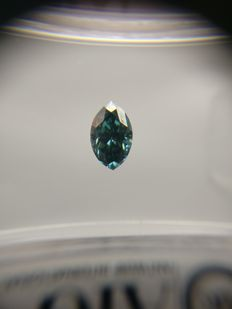 0.35 ct Marquise cut diamond Fancy Deep Greenish Blue VS1