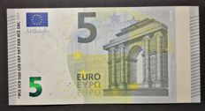 European Union - 5 euros 2013 MISPRINT - WHITE STRIP on reverse - ERROR NOTE