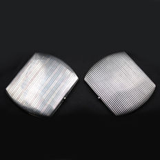 Pair of Art Deco Sterling Silver Cigarette Cases; 205 grams