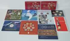 Belgium/Germany - 10 coin set miscellaneous - Including silver