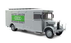 Premium Classixxs - Scale 1/18 - Nag-Büssing Race Transporter Auto Union - Colour: Grey - Limited 500 pieces