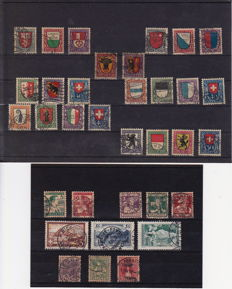 Switzerland 1913/1947 - Selection including Pro Juventute and airmail.