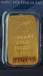 1 Gold Bullion item with 999.99 x 0,10 gr + 24K Gold - Sheet of Paper (500 Euros)